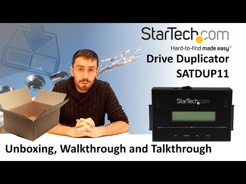 StarTech High-end Duplicator and Eraser SATDUP11 Unboxing, Walkthrough and Talkthrough