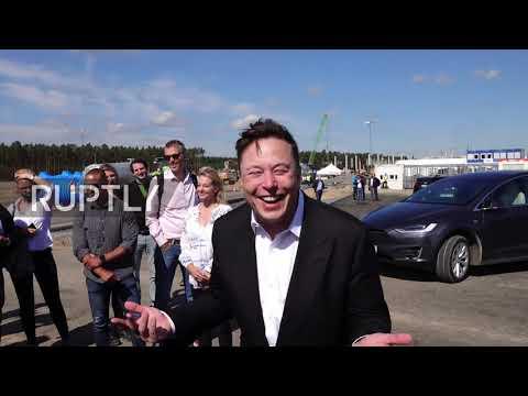 Germany: Elon Musk makes first visit to Berlin Gigafactory