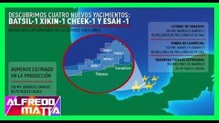 """Descubren en México el quinto mayor depósito de petróleo de los últimos añosEl consorcio integrado por Sierra Oil and Gas, Talos Energy y Premier Oil descubrió un yacimiento de hidracarburos en las costas de Tabasco, luego de PEMEX no pudo descubrir yacimientos en varios años, con la reforma energetica la empresa estadunidence llego a México y en cuestión de semanas localizo varios yacimientos. La empresa estadounidense Talos Energy reportó el hallazgo de un gran yacimiento de petróleo a 60 kilómetros de las costas del estado de Tabasco. Se trata del mayor descubrimiento en el territorio que comprende el Golfo de México desde el año 2000 y del quinto mayor depósito de hidrocarburos encontrado en el mundo en el último lustro. Talos informó que el megayacimiento fue encontrado durante la perforación del pozo 'Zama-1', una franja de agua de aproximadamente 166 metros de profundidad, con una estimación de recursos cuantificada entre 1.400 y 2.000 millones de barriles de petróleo crudo. Desafortunadamente el descubrimiento del yacimiento no abaratara el precio de la gasolina en México, de hecho la concesión la tendría Estados Unidos.-------------------------------------------------""""NOTICIAS MÉXICO HOY"""" https://goo.gl/OW6Ax5 -------------------------------------------------""""TENDENCIAS INTERNET"""" https://goo.gl/9y0Nsu""""NOTICIAS MEXICO"""" https://goo.gl/OW6Ax5 """"NOTICIAS ULTIMA HORA"""" https://goo.gl/32UmcR""""INTERNACIONALES"""" https://goo.gl/4OoHYy""""NOTICIAS ARGENTINA"""" https://goo.gl/BvGUud""""NOTICIAS COLOMBIA"""" https://goo.gl/3a2mRe""""NOTICIAS PERU"""" https://goo.gl/kl9vtp""""NOTICIAS CHILE"""" https://goo.gl/sH8Vmb""""NOTICIAS DEPORTIVAS"""" https://goo.gl/qUAFi0-------------------------------Consejos YouTube: http://goo.gl/jbXiYy~ Gσσgℓє: http://goo.gl/BdwU28► Aмιgσѕ Yσυ Tυвє: http://goo.gl/zWNXpL▬ Sιgυємє єη Tωιттєr: http://goo.gl/5AaExg✓ Fαcєвσσк: http://goo.gl/WP9HZoYouNow! https://goo.gl/w7Qzll~ Alfredomatta"""