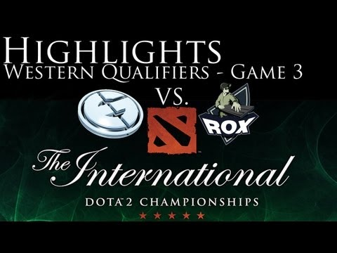RoX.KIS vs. EG - The Internationals 3 Western Qualifiers - Game 3 - HIGHLIGHTS