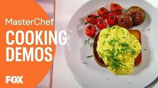 Video Gordon Ramsay Demonstrates How To Make The Perfect Scrambled Eggs | Season 8 Ep. 5 | MASTERCHEF MP3, 3GP, MP4, WEBM, AVI, FLV Mei 2019