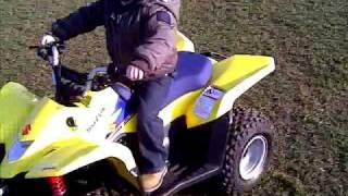 9. 3 Year Old on Suzuki Ltz 50 Quad Bike