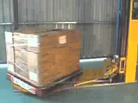 Wrapping pallets with stretch tape Video Image