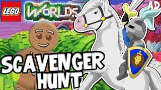  EPIC SCAVENGER HUNT!! - LEGO WORLDS! W/CaptainSparklez
