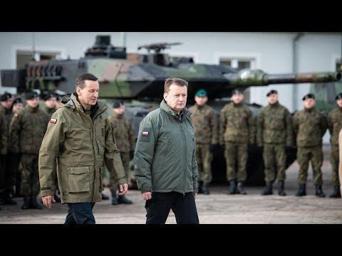 Premier i szef MON w 1 Brygadzie Pancernej - SPOT