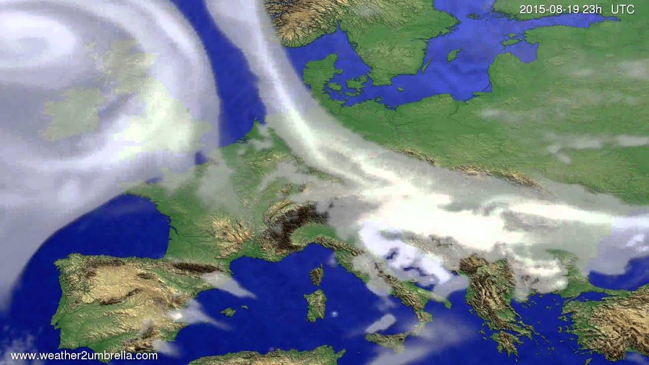 Cloud forecast Europe 2015-08-16