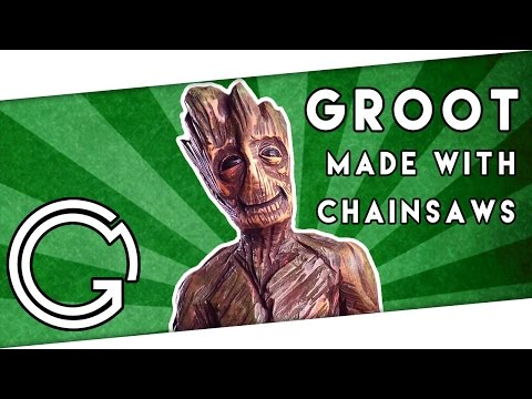 Watch This Lady Carve Groot Out Of Wood With A Chainsaw