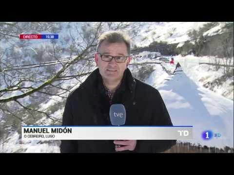 Wintersturm über Spanien