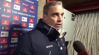 Download Video Michael Duff on Cheltenham Town's Emirates FA Cup replay win over Ebbsfleet United MP3 3GP MP4