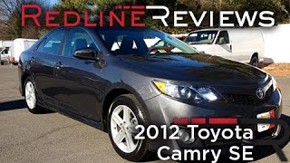 2012 Toyota Camry SE Review, Walkaround, Exhaust, Test Drive