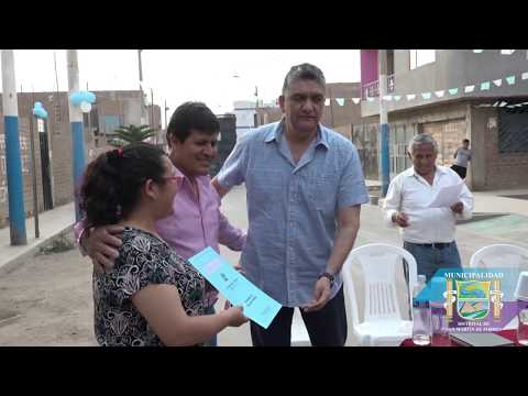 ENTREGA DE TITULOS A VECINOS DE A.H. SAN VALENT�N - MUNICIPALIDAD DE SMP