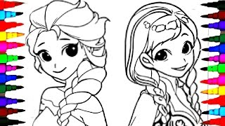 Video Coloring Pages Disney Frozen Cartoon Elsa and Anna Coloring Book Videos For Children Learning Colors MP3, 3GP, MP4, WEBM, AVI, FLV Oktober 2017
