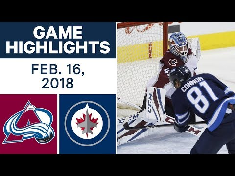 Video: NHL Game Highlights | Avalanche vs. Jets - Feb. 16, 2018
