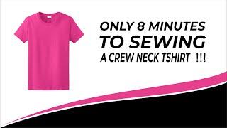 Video 8 menit membuat kaos . only 8 minutes to sewing a crew neck T shirt MP3, 3GP, MP4, WEBM, AVI, FLV Desember 2018