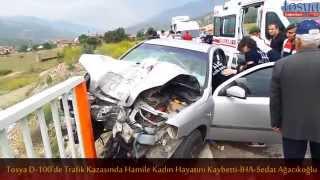 tosya d 100 trafik kazasi hamile kadin öldü