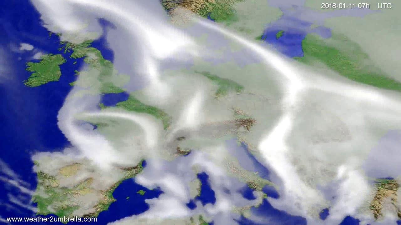 Cloud forecast Europe 2018-01-07