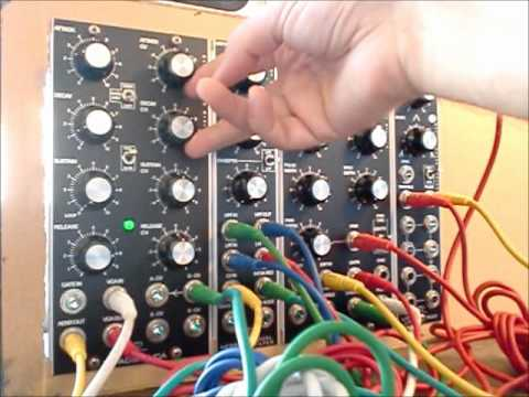 krisp1 - The sound of four Oakley modules built by Krisp1: VCO, noise/dual filter, VC-ASDR/VCA & LFO/multiple. No additional controls or processing.