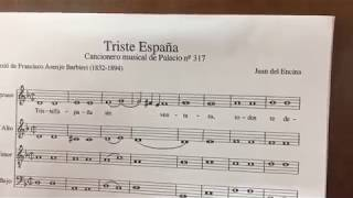 Juan del Encina – Triste España