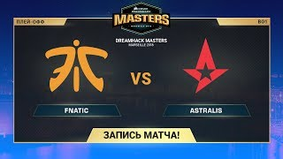 fnatic vs Astralis - DreamHack Marceille - map2 - de_mirage [SleepSomeWhile, GotMint]