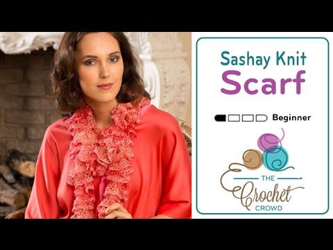 Knit a Sashay Scarf | BEGINNER | The Crochet Crowd видео