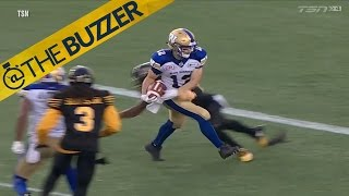 CFL player catches TD without looking by @The Buzzer