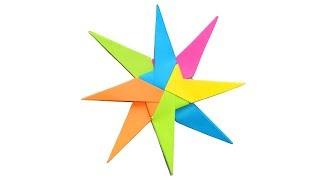 Как сделать звезду из бумаги ⭐Оригами звезда