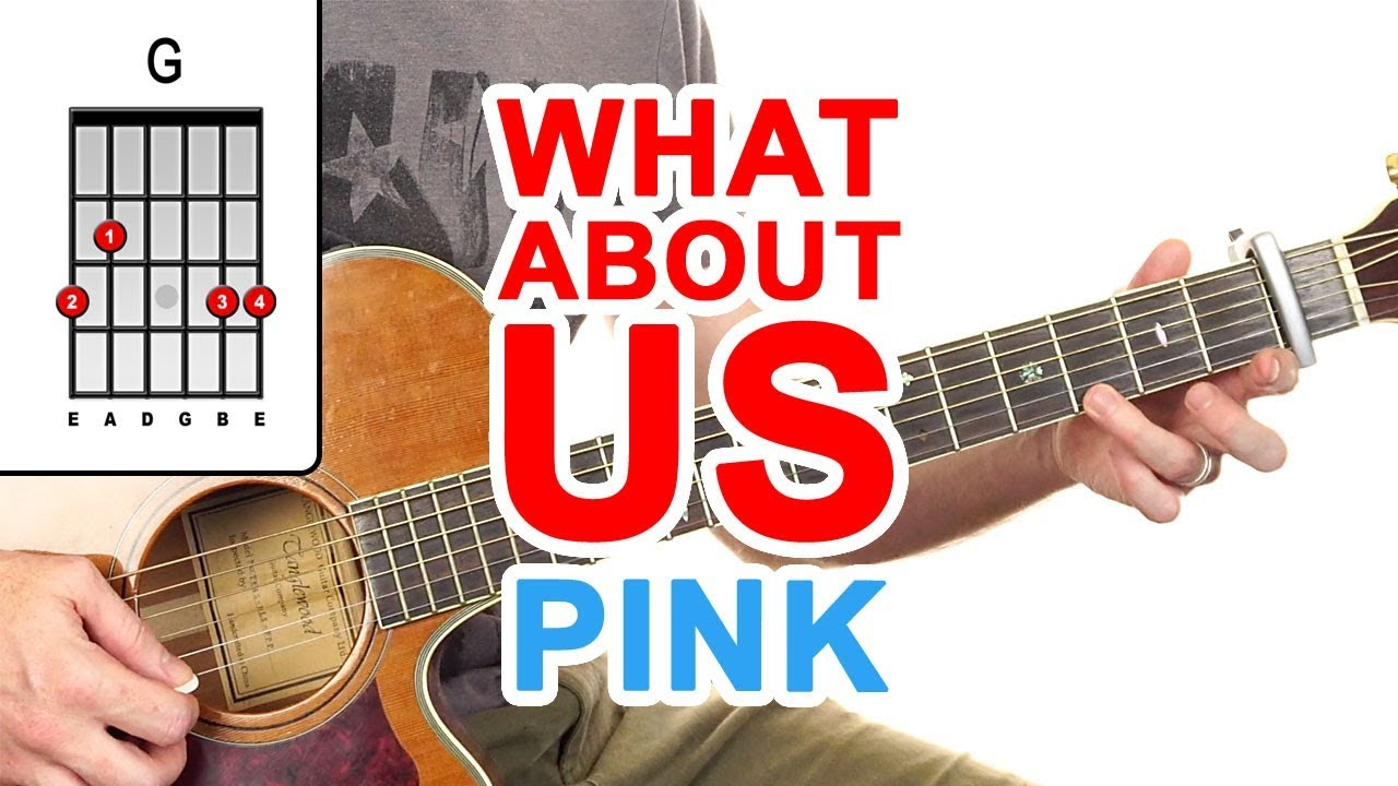 What About Us | Pink | Guitar Lesson – Easy How To Play Acoustic Songs – Chords Tutorial