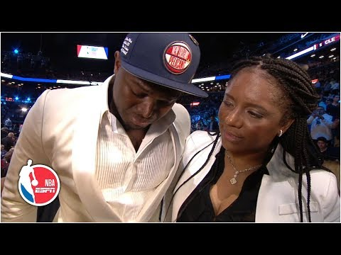 Zion Williamson gets emotional after New Orleans Pelicans select him No. 1 overall   2019 NBA Draft