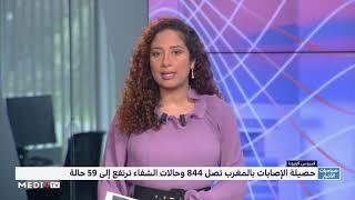 فيروس كورونا ..  تسجيل 53 حالة إصابة جديدة ترفع الحصيلة إلى 844 حالة بالمغرب