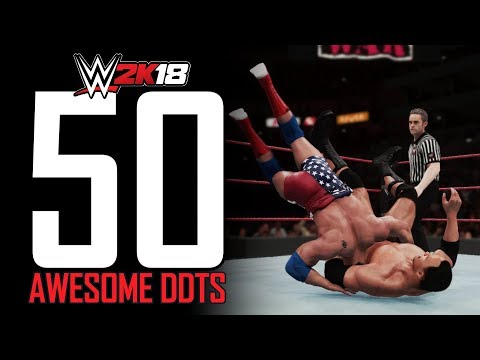 WWE 2K18 - 50 DDTs In The Game! (DDT Fury)