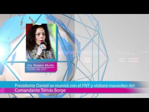Presidente Daniel se reunirá con el FNT y visitará mausoleo del Comandante Tomás Borge