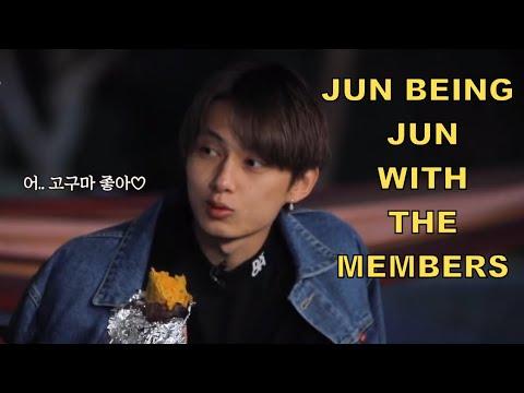 Jun being Jun with the Members (SEVENTEEN)