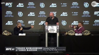 Video UFC holds press conference ahead of McGregor and Khabib fight MP3, 3GP, MP4, WEBM, AVI, FLV Desember 2018