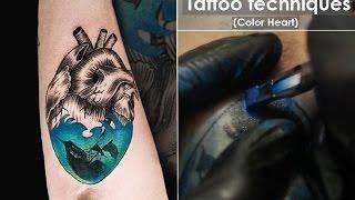 Процесс и техника нанесения татуировки. Видео уроки из школы тату. Как делают и как делать татуировки в стиле графика в цвете. Михайлов Алексей