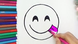 Download Lagu How To Draw Face Savouring Delicious Food Emoji - Cute and Easy | BoDraw Mp3
