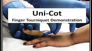 In this video we try out a new finger tourniquet called the Uni-Cot by Mar-Med.