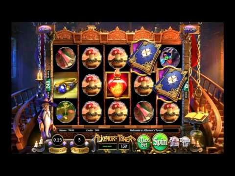 Betsoft Alkemor's Tower Video Slot - Elemental Wilds and Coin Tosses