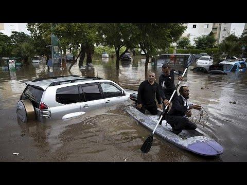 Μ. Ανατολή: Εκτεταμένες πλημμύρες σε Γάζα και Ισραήλ