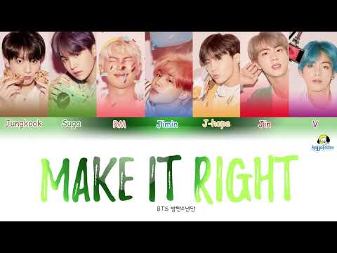 BTS - Make It Right (방탄소년단) [Color Coded Lyrics Han/Rom/Eng] Ed Sheeran