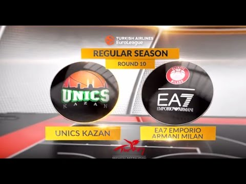 EuroLeague Highlights RS Round 10: Unics Kazan 100-79 EA7 Emporio Armani Milan