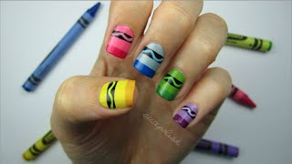 Crayon Nail Art - YouTube