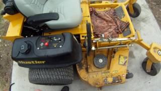 6. Hustler wide deck/kohler engine finished