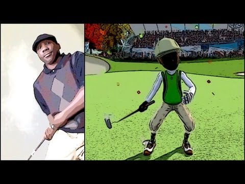 Kinect Sports 2 – ActionCam Golf Swing Like Charles Barkley   I'm Better than Tiger Woods LOL