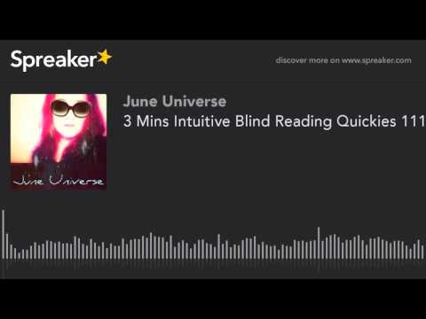 NInja Intuitive - 3 Mins Intuitive Blind Reading Quickies 1112016 (part 1 of 3)