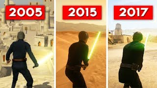 HEROES AND VILLAINS COMPARISON - Star Wars Battlefront (2005) vs (2015) vs (2017) EVOLUTION