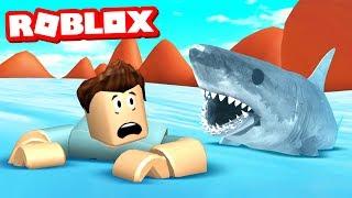 Video SURVIVE THE SHARK ATTACK IN ROBLOX MP3, 3GP, MP4, WEBM, AVI, FLV Januari 2019