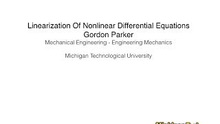 Linearization of Nonlinear Differential Equations