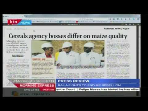 Why Cereals Agencies' Bosses differ on maize quality as 400,000 bags considered bad