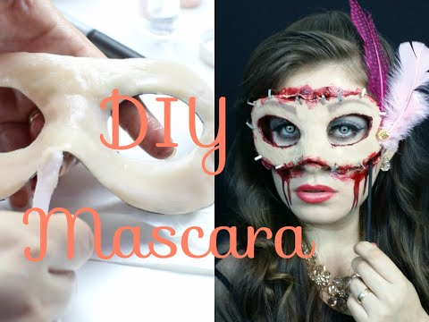 DIY Maquillaje antifaz Halloween Recreacion