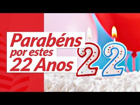 Msg de aniversário - Parabéns por 22 anos de vida! (Mensagem de Aniversário)